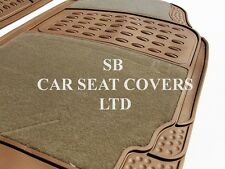 i - TO FIT A TOYOTA STARLET CAR, DELUXE FLOOR MATS, 2210 BEIGE - 4 PIECE SET