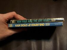 2 STAR WARS HAN SOLO PAPERBACK BRIAN DALEY LOST LEGACY & AT STARS' END