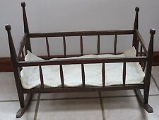 Antique Primitive Cradle Baby Cradle Folk Art Hand Made AAFA 1800's