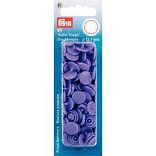 30 BOTTONI A PRESSIONE Automatici in Plastica Viola Prym Color Snaps 393135