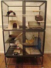 Large Ferret Cage Small Pet Chinchilla Rabbit Hamster Guinea Rat Metal House