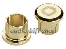 4 Stück Oehlbach XXL Cinch Caps vergoldete Abdeckungen für Buchsen NEU