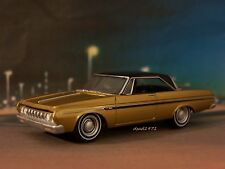 64 1964 PLYMOUTH FURY MAX WEDGE COLLECTIBLE MOPAR MODEL 1/64 SCALE - DIORAMA