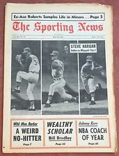 5-13-67 SPORTING NEWS FAMOUS STEVE BARBER NO HITTER  INDIANS HARGAN ON COVER