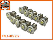 E10 LED Bulbs Screw Fit Replaces Interior Gauges For Classic Cars x10