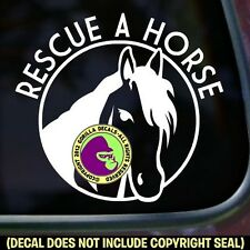 RESCUE A HORSE Equine BLM Slaughter Decal Sticker Car Window Sign WHITE