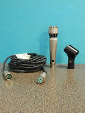 Vintage AKG D1000E Microphone And Accessories Strong Output and Frequency switch