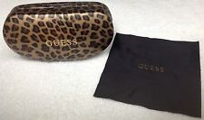 Leopard Print GUESS Sunglasses Hard Case with Cleaning Cloth