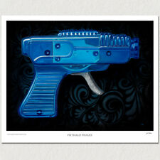 Vintage Tin Ray Space Gun - Water Gun - Marx Space Toy - Poster Print - PADLO