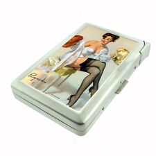 Pin Up Girl Brunette Red Blonde Wigs D 178 Cigarette Case Built in Lighter
