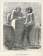 """Gavarni, Paul - """"les petits mordent"""" de """"Masques et rostros"""" mostrarían 1853"""