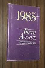 1985 CHRYSLER FIFTH AVENUE OWNERS MANUAL ORIGINAL