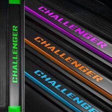 Door Sill Plate Protectors Black Matte Vinyl Fits Dodge Challenger 2008-2016