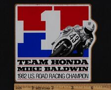 1982 MIKE BALDWIN TEAM HONDA STICKER F1 CHAMPION FWS1000 Vintage Superbike Decal