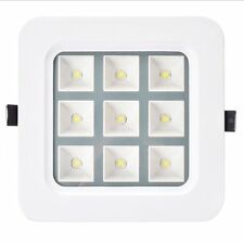 110V 9W 900LM Dimmable LED Grille Light Ceiling Downlight Recessed Natural White