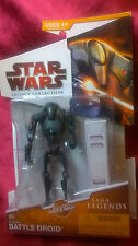 STAR WARS LEGACY COLLECTION BATTLE DROID SAGA LEGENDS 2009 INCLUDES BATTLE GEAR