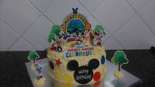 Mickey Mouse Playhouse Scene Wafer Edible Topper Cake Decoration Set