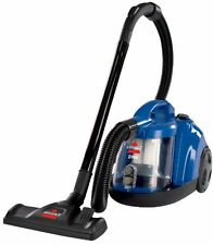BISSELL Zing Bagless CANISTER VACUUM, Cord Rewind VAC CLEANER, Caribbean Blue
