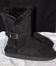 Chatz by Chatties Ladies Women's Micro Suede Winter Boots Black Small 5-6