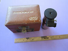 GERMANY VINTAGE ZEICHENOKULAR LEITZ WETZLAR PORTABLE MICROSCOPE OPTICS