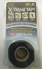 X-TREME TAPE - BLACK - SILICONE RUBBER TAPE, SELF FUSING, REPAIR WRAP INSULATING