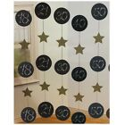 6 Black & Gold Birthday HANGING DOOR DANGLES 152cm (Party/Decoration)