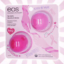 EOS Lip Balm Breast Cancer Awareness Limited Ed - Strawberry Sorbet & Wildberry