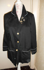 Vintage blue black ladies jacket sun moon sailor 12 14 Peter Popovitch blazer