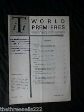 INTERNATIONAL THEATRE INSTITUTE WORLD PREMIER - FEB 1962 VOL 13 #5