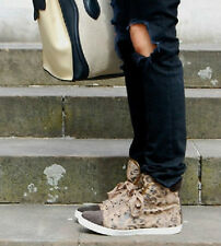 LANVIN LEOPARD HIGH TOP SNEAKERS 38 UK 5