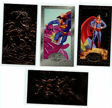 DC Comics Superman 4 Skybox 1994 Extra Tall Prototype FS2 FS3 and SP1 SC2 Cards