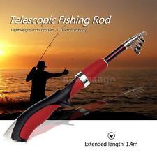 1.4M TELESCOPIC MINI FISHING ROD FOLDING ROD POLE PORTABLE FISHING ROD COOL L4O9