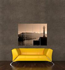 GIANT PRINT POSTER PHOTO INDUSTRY LANDSCAPE WHITBY LIGHTHOUSE RUIN ABBEY PDC044