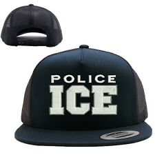 ICE U.S. Immigration and Customs Enforcement MESH TRUCKER SNAP CLOSURE CAP HAT