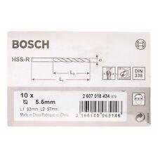 Bosch Metal drill bits HSS-R. DIN 338 5.5 x 57 x 93 mm 2607018424
