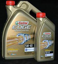 1x5+1x1 (6  Liter)  Castrol EDGE FST TITANIUM Turbo Diesel 5W-40 Motoröl 5W40 VW