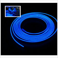 LED Light Glow EL Wire String Strip Rope Tube Car Interior Decor Blue 3M