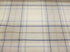 Beige & Blue Check, Plaid, Heavy Upholstery Fabric. By NEXT