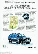 PUBLICITE ADVERTISING 116  1994   Opel Frontera  le 4x4  Indiana