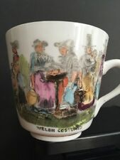 Welch Mug Costumes Tea Cup Coffee Collectors Rhosllanerchrugog Porcelain Vintage