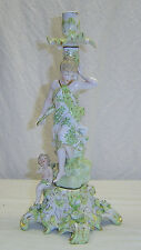 Antique Figural Candlestick Candle Holder Dresden Meissen von Schierholz Germany