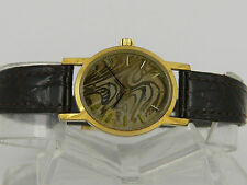 RaRe Swiss Omega Geneve pattern dial manual wind gold plated women dress watch