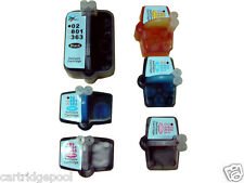 6 Refillable ink cartridge for HP 02 C5180 C6180 D7360