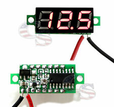 RED DC 0-30V 2 Wire LED Display Digital Voltage Voltmeter Panel Car Motorcycle