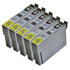 5 Compatibles Cartouches d'encre Noir pour l'imprimante Epson sx130 s22 sx230