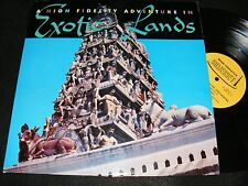 Displayable HINDU TEMPLE Cover Lp EXOTIC MOOD High Fidelity In EXOTIC LANDS Fun!