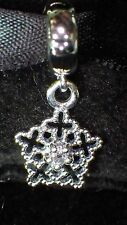 925 SILVER UNBRANDED DANGLE SNOWFLAKE AUSTRALIAN CRYSTAL EUROPEAN BEAD CHARM