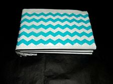 25 Blue Chevron 4x8 Bubble Mailers, Padded Shipping Postal Mailing Envelopes