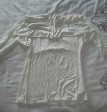 Ladies White Dressy Top by South Size 12, Formal, Other Tops, Viscose, Elastane