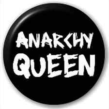 NEW LAPEL PIN BUTTON BADGE: Anarchy Queen - REBEL